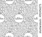 seamless pattern of hand drawn... | Shutterstock .eps vector #492456271