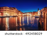 City Landscape. Rialto Bridge ...