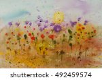 Watercolor Painting Of Colorful ...