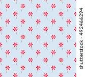light blue seamless pattern... | Shutterstock .eps vector #492466294