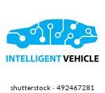 smart car intelligent vehicle... | Shutterstock .eps vector #492467281