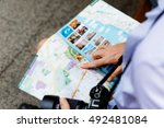 male tourist in city | Shutterstock . vector #492481084