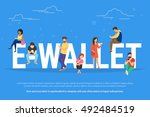 e wallet concept illustration... | Shutterstock .eps vector #492484519