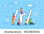 social networking and blogging... | Shutterstock .eps vector #492484534