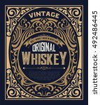 vintage label for whiskey. you... | Shutterstock .eps vector #492486445