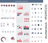infographic elements set. easy... | Shutterstock .eps vector #492492151