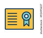 vector certificate icon | Shutterstock .eps vector #492495637