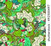 tracery seamless calming... | Shutterstock .eps vector #492500497