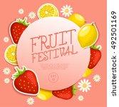 fruit festival   fruit elements ... | Shutterstock .eps vector #492501169