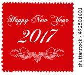 happy new year 2017 grunge... | Shutterstock .eps vector #492501601