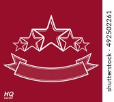 vector monarch symbol. festive... | Shutterstock .eps vector #492502261