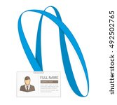 id card for businessman. vector ... | Shutterstock .eps vector #492502765