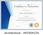 modern certificate template for ... | Shutterstock .eps vector #492504124