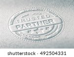3d illustration of an embossed... | Shutterstock . vector #492504331