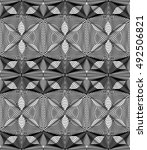 vector pattern with black... | Shutterstock .eps vector #492506821