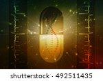 digital illustration dna...   Shutterstock . vector #492511435