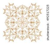 gold vintage baroque element... | Shutterstock .eps vector #492517225