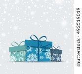 retro decorative christmas... | Shutterstock .eps vector #492519019