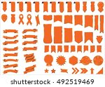 banner vector icon set red... | Shutterstock .eps vector #492519469