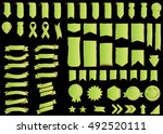 banner green vector icon set on ... | Shutterstock .eps vector #492520111