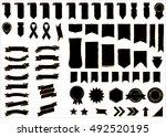 banner black vector icon set on ... | Shutterstock .eps vector #492520195