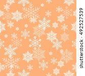 snowflake vector pattern. | Shutterstock .eps vector #492527539
