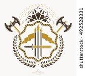 heraldic coat of arms... | Shutterstock .eps vector #492528331