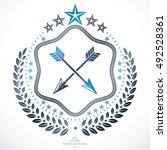 vintage emblem  vector heraldic ... | Shutterstock .eps vector #492528361