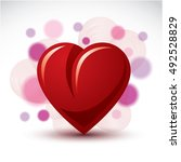 love and romance symbolic... | Shutterstock .eps vector #492528829