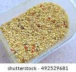 Grain Birds Food Closeup On A...