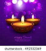 abstarct happy diwali background | Shutterstock .eps vector #492532369