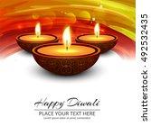 abstarct happy diwali background | Shutterstock .eps vector #492532435