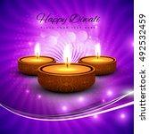 abstarct happy diwali background | Shutterstock .eps vector #492532459