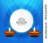 abstarct happy diwali background | Shutterstock .eps vector #492532495
