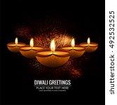 abstarct happy diwali background | Shutterstock .eps vector #492532525