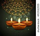 abstarct happy diwali... | Shutterstock .eps vector #492532555