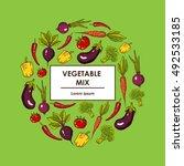 vector set of vegetables | Shutterstock .eps vector #492533185