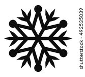 snowflake vector icon for... | Shutterstock .eps vector #492535039