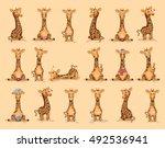 set vector stock illustrations... | Shutterstock .eps vector #492536941