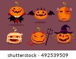 Illustration Set Of Halloween...