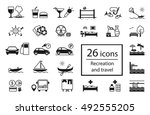 vector set of recreation icons. ... | Shutterstock .eps vector #492555205