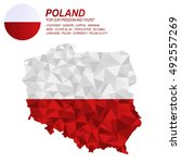 poland flag overlay on poland...   Shutterstock .eps vector #492557269