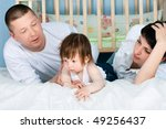 family at home   father  mother ... | Shutterstock . vector #49256437
