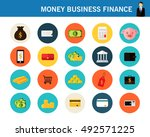 money business finance concept... | Shutterstock .eps vector #492571225