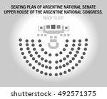 the argentine senate. upper... | Shutterstock .eps vector #492571375