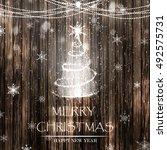 merry christmas.christmas tree...   Shutterstock .eps vector #492575731