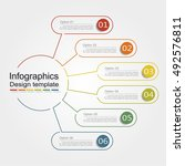 infographic design template... | Shutterstock .eps vector #492576811
