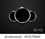 vector chrome ring speedometer... | Shutterstock .eps vector #492579844