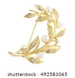Brooch On A White Background
