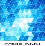 blue grid mosaic background ... | Shutterstock .eps vector #492582475
